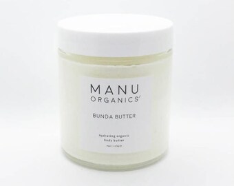 Natural Organic Whipped Body Butter with Coconut Oil, Shea Butter, Cocoa Butter & Almond Oil   Skincare   Unscented   Moisturizer   4 oz