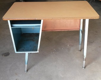 Vintage all steel school desks, Children's desk, Student's desk, All metal desk, Vintage desk , LH configuration