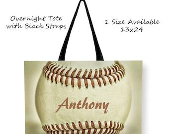 Custom Baseball Tote-Baseball Bag-Custom Sports Bag-Overnight Bag-Travel Bag-Shoulder Tote Bag-Baseball Bag-Sports Tote-Team Mom Gift