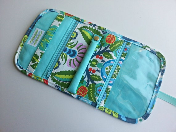 Travel Jewelry Organizer Pouch Quilted in Amy Butlers