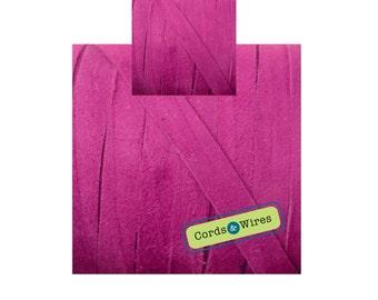 CW06105 Indian Pink - 1 meter x 6mm Flat Suede