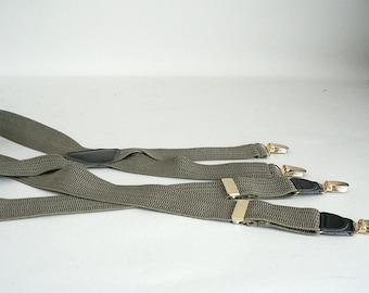 Mens Olive Pant Suspenders