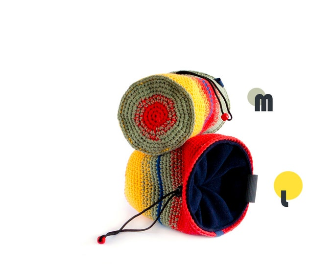 Chalk Bags for Climbing Partners. Rock Climbing Chalk Bags, One or Set of 2, M and (or) L Size