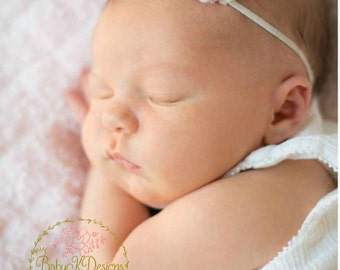 SAVE 15% Baby Girl Headbands   Newborn Headbands   Baby Headbands  Small  Flower Hairbow 89442103053