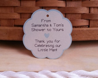 25 Personalized Tags, Personalized Wedding Tags, Personalized Favor Tags, Personalized Baby Shower Tags