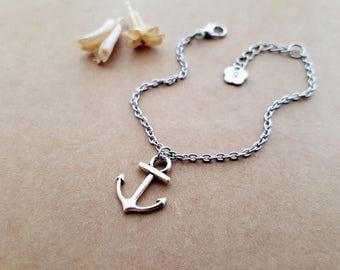 Anchor Bracelet, best friends jewelry, friendship bracelet, personalized gift, initial bracelet, anchor jewelry, boyfriend gift gift for her