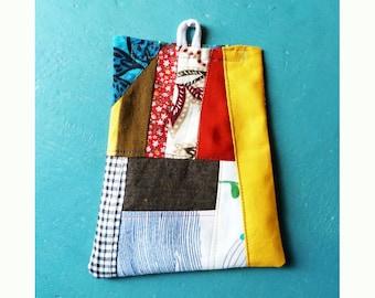 Patchwork lavender sachet recycled textiles