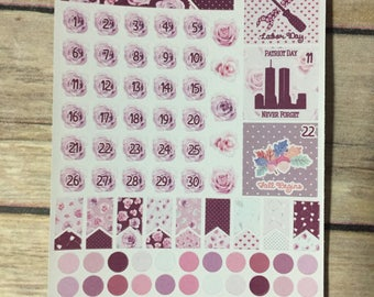 September Date Stickers