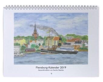 Wall Calendar Flensburg 2019