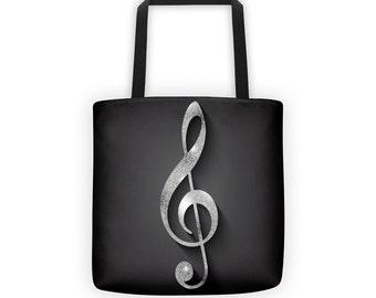 Clef Note Designer Tote Bag