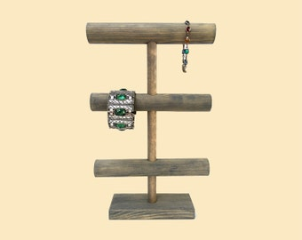 Bracelet Stand Organizer / Watch Display / Vertical Jewelry Holder / Jewelry Display / T-Bar / 10 Color Choices