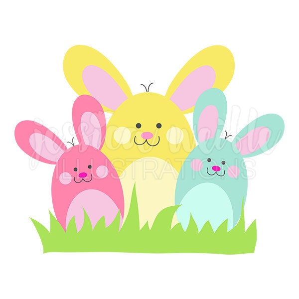bunny bunch cute digital clipart easter bunny clip art rh etsy com clipart easter rabbit free clipart easter bunny face
