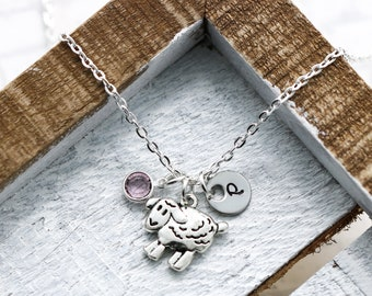 Sheep Necklace - Sheep Gifts for Women - Sheep Jewelry - Sheep Charm Necklace for Kids - Sheep Lover Gifts - Sheep Themed Gift for Farmer