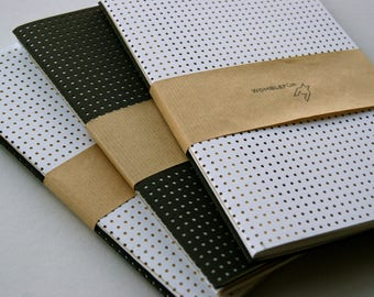 Set of 2 Metallic Notebooks - A5 pocket journals