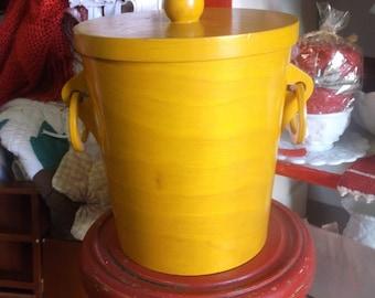 Wooden Ice Bucket Etsy