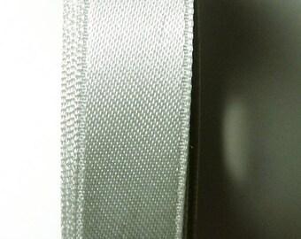 5 Metters gray 6 mm satin ribbon Pearl 0.66 b.