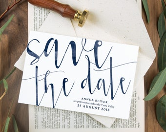 Watercolor save the date cards, Navy wedding save the date, Navy save the date wedding, Save the date wedding, Boho save the date template