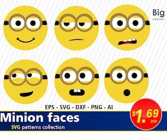 Minion etsy minions faces svg png eps ai dxf minion face despicable me minion svg stopboris Gallery