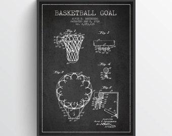 1938 Basketball Goal Patent Poster, Basketball Poster, Basketball Art Print, Basketball Wall Decor, Home Decor, Gift Idea, SA05P