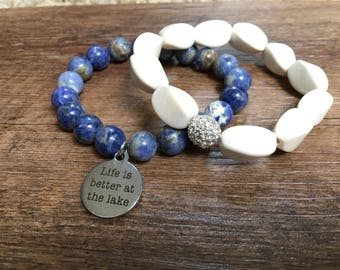 Lake Water Bracelet Stack