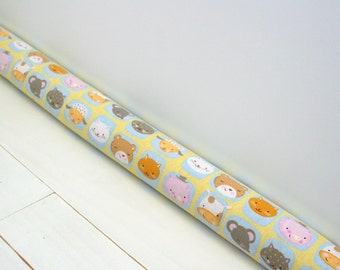 Door Draft Stopper - Kids Room Decor - Yellow Nursery Decor - Child's Door Snake - Light Blocker - Animal Door Snake. 07