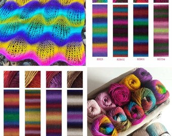 10 skeins, NAKO Vals, Knitting yarn, Crochet yarn, acrylic yarn, Shawl yarn, hat yarn, accessories yarn, scarf, pullover, cardigan, beret