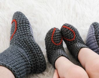 Baby Booties With Love Heart Embroidery