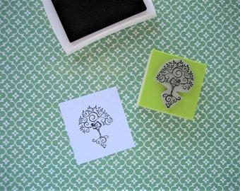 YOGA TREE Rubber stamp. Asana stamp. Yoga pose stamp. Yoga accessories. Yoga supplies. Tree pose yoga. Benefits of yoga.  Yoga teacher gift