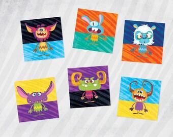 Monster Game, Monster Match, Monster Printables, Monster Party, PRINTABLE,  Monster Birthday, Birthday Printable, Monster Theme,  Party Game