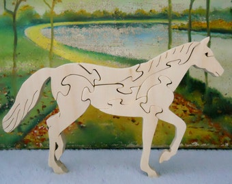 Wooden Trotting Horse Puzzle