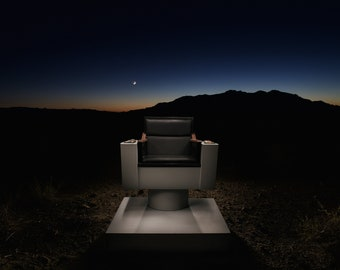 Star Trek Captain's Chair in Death Valley Junction