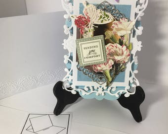 Dimensional Handmade Easel type sympathy card
