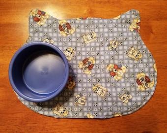 Kitty Cat Food Mat