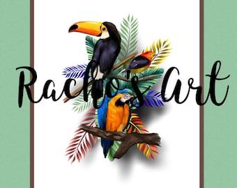 Tropical Birds Wall Decor