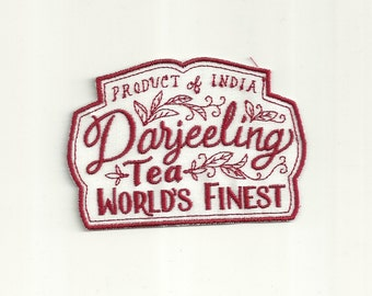 Darjeeling Tea Cafe Patch! Custom Made! AP57