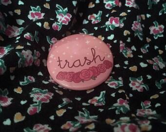 Kawaii Trash Button! ////// Anime button, Kawaii button, fandom button, fan, shipping, shipper, pinback button