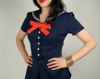 Vintage 60s 2 piece sailor outfit