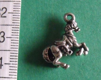 17mmx19mm Silver Horse charm pendant