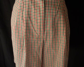 Women's Vintage 80s plaid high waist sz M **Free Shipping**