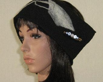 boiled wool ear warmer headband