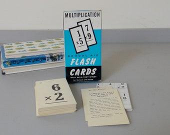 Vintage Multiplication Flash Cards - Boxed Set 1958