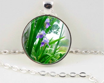 Purple Iris Pendant