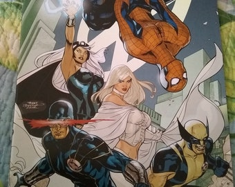 DISCOUNT COMICS SALE:x-men #7 (spiderman) mint/ bachalo artwork
