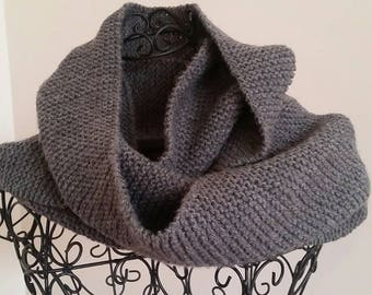 Gray acrylic infinity scarf