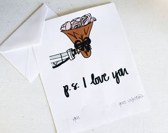 P.S. I Love You Printable Valentines Day Card