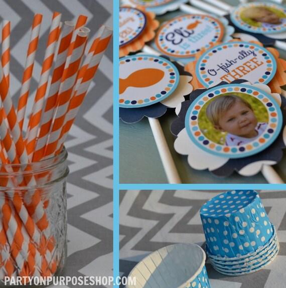 Goldfish Birthday Party Decorations Orange Blue Fully