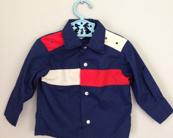Vintage Boys Button Down Dress Shirt 18 month - 2T