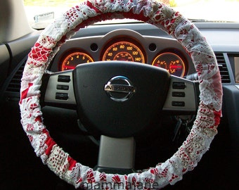 Lace Scrap Steering Wheel Cover