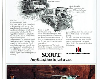 1979 Advertisement International Scout Go To Campsites Tough Rugged Traveler II Anything Less Is Just A Car Holiday Camping Wall Art Decor