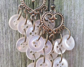 Vintage Dangle Heart Earrings